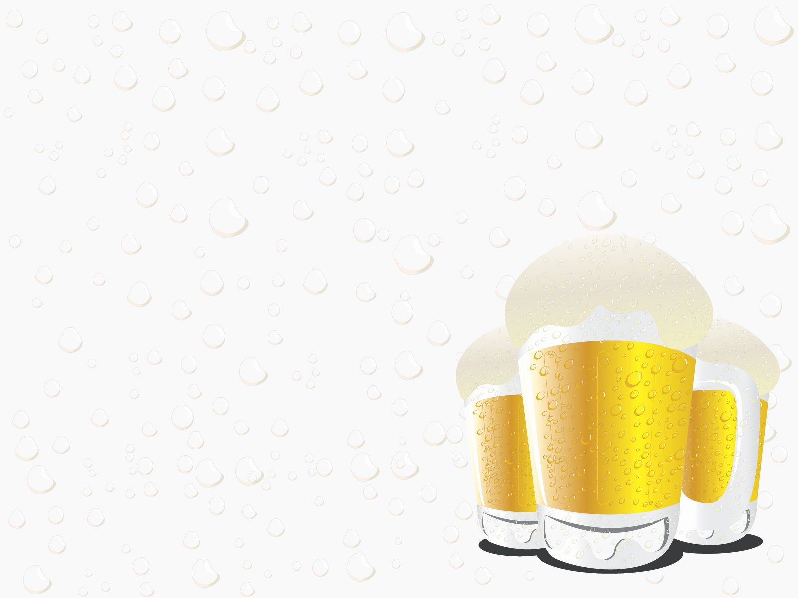 Beer Can Design Template Awesome Beer Glasses Powerpoint Templates Food & Drink Yellow