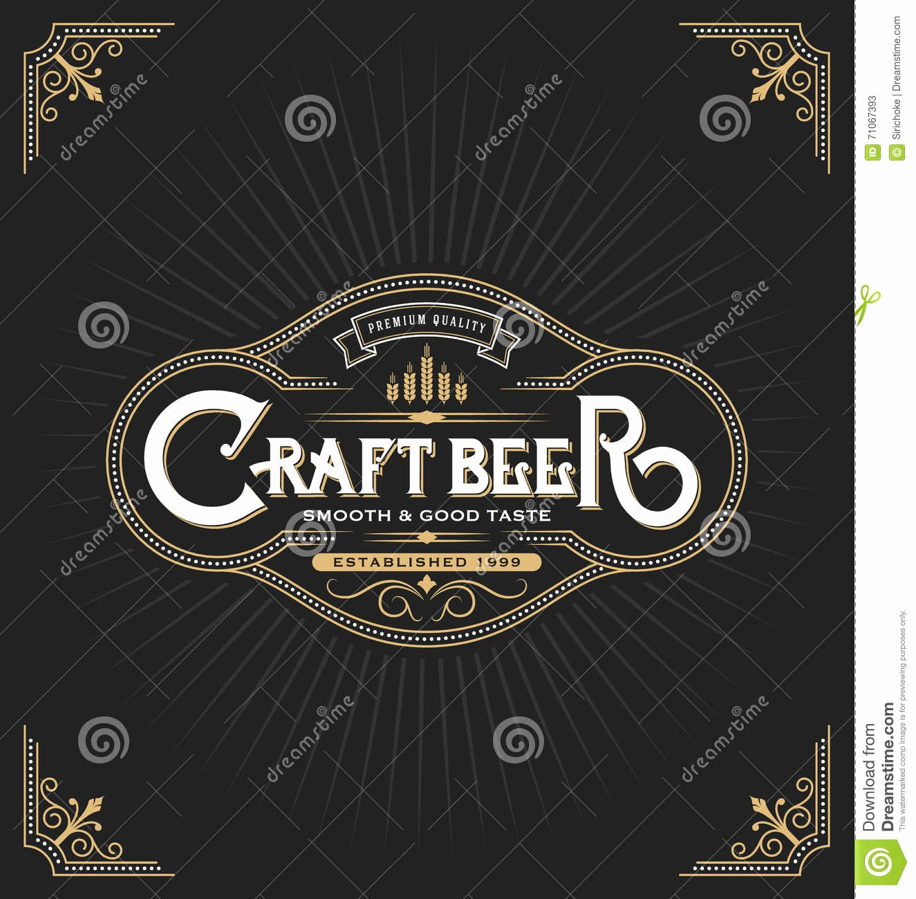 Beer Can Design Template Awesome Craft Beer Sticker Label Design Stock Vector