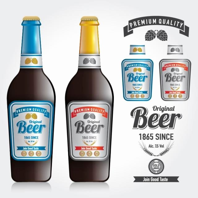 Beer Can Design Template Awesome Mockup Of Bottle Vector and Design Premium Label Of Beer