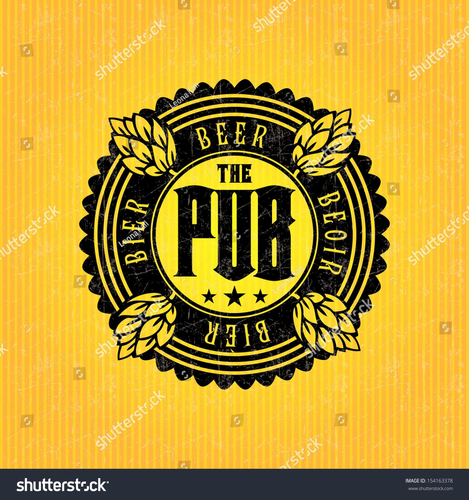 Beer Can Design Template Lovely Beer Label Design Template Stock Vector