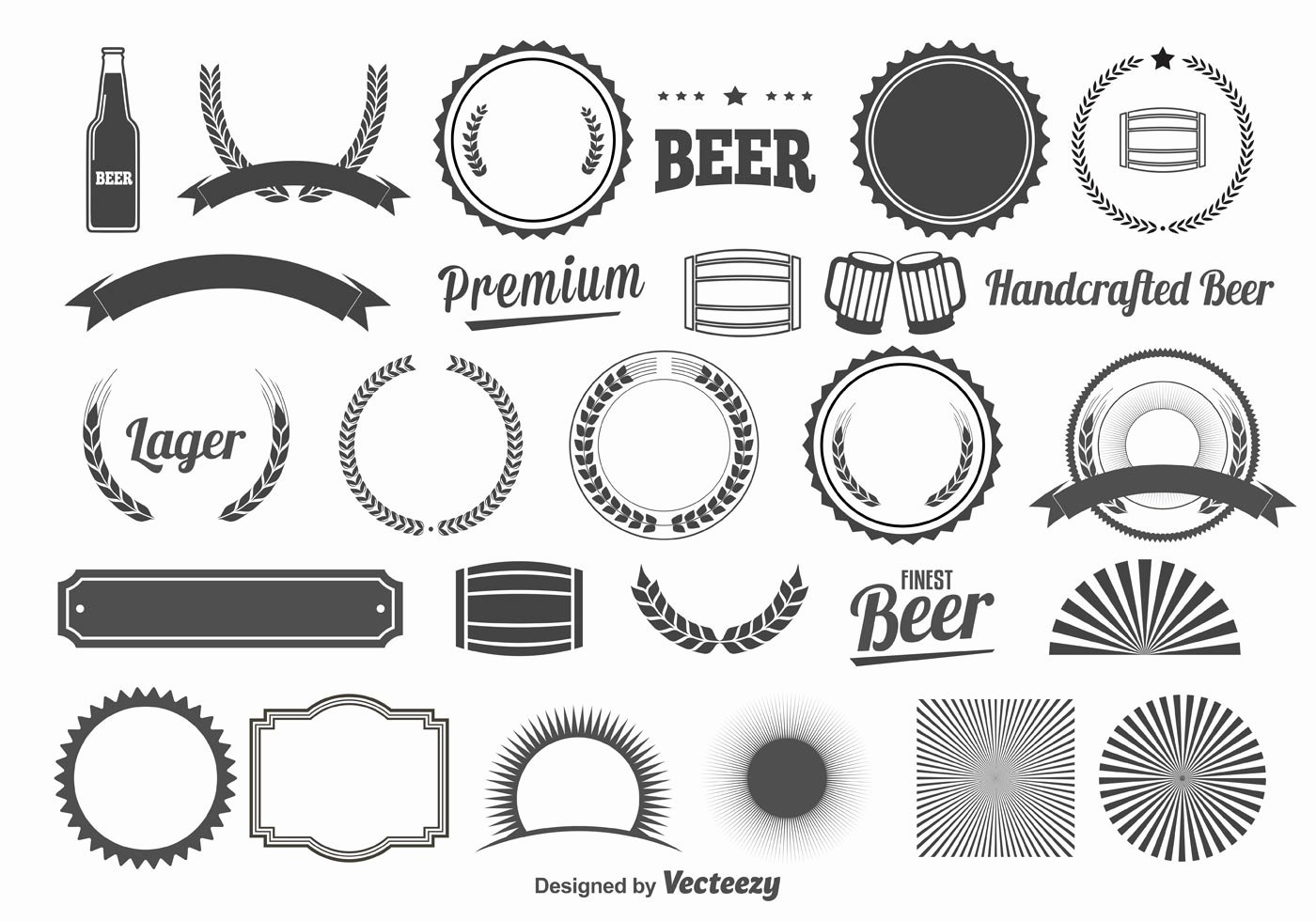 Beer Can Design Template New Beer Design Elements Download Free Vector Art Stock