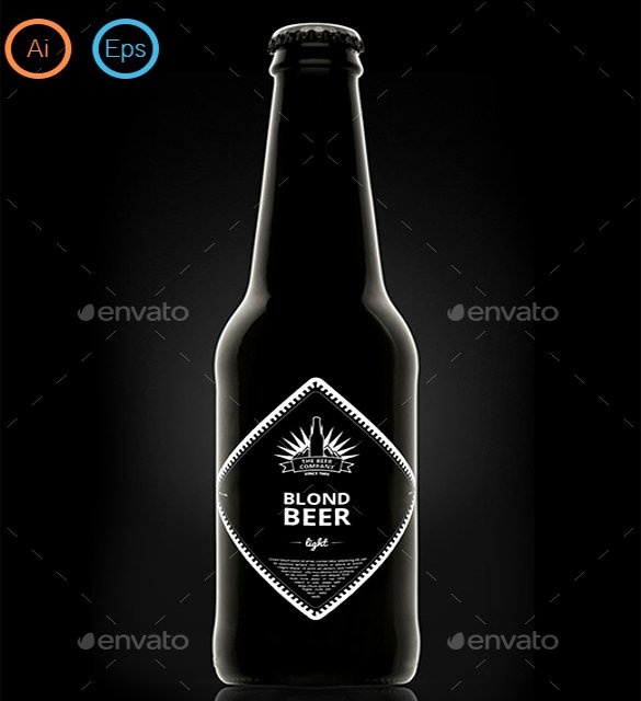 Beer Can Design Template New Beer Label Template 27 Free Eps Psd Ai Illustrator