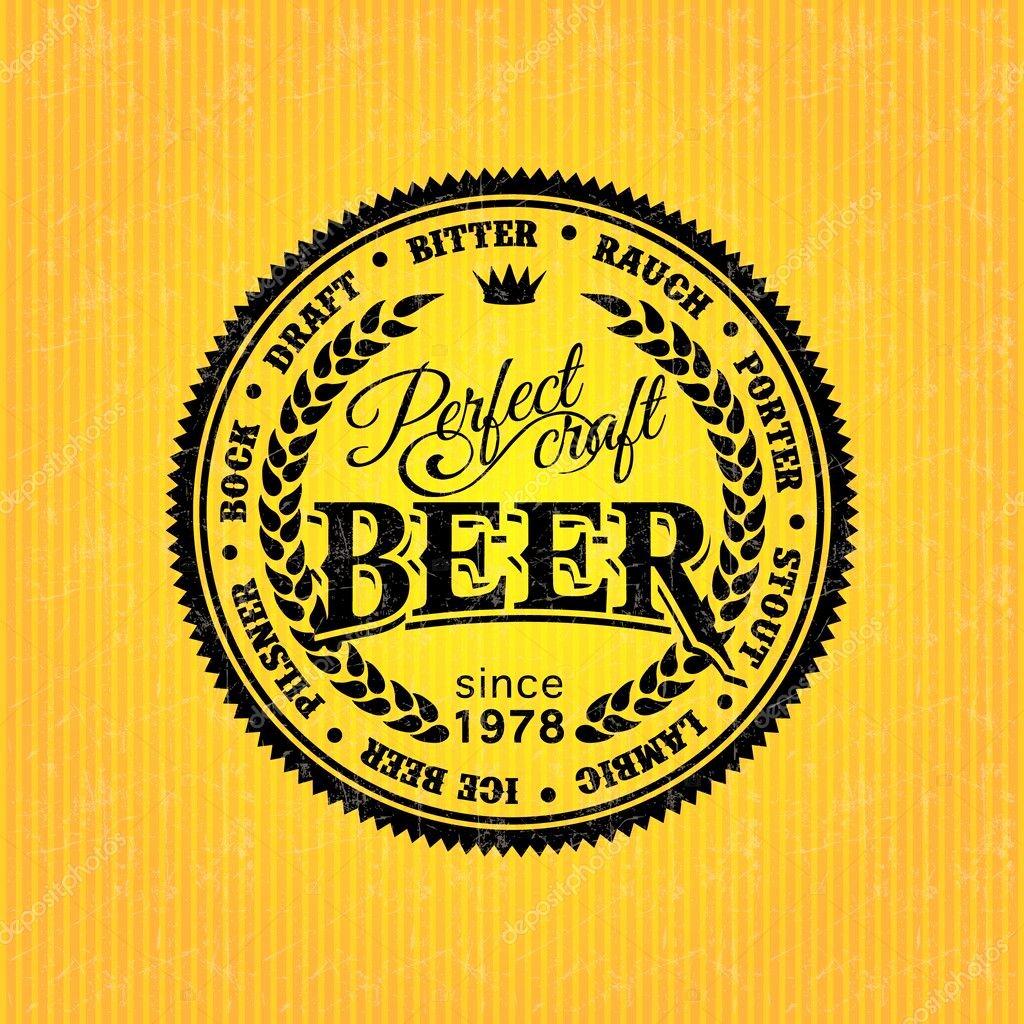 Beer Can Design Template New Modello Di Pro Tazione Etichetta Birra — Vettoriali