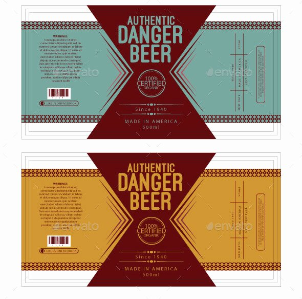 Beer Can Label Template Awesome Beer Label Template to Pin On Pinterest Pinsdaddy