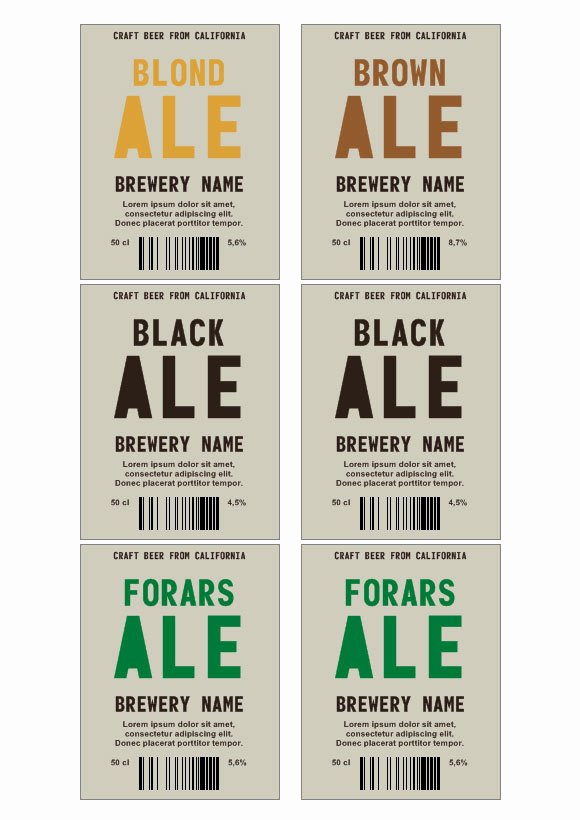 Beer Can Label Template Beautiful Ale Beer Labels