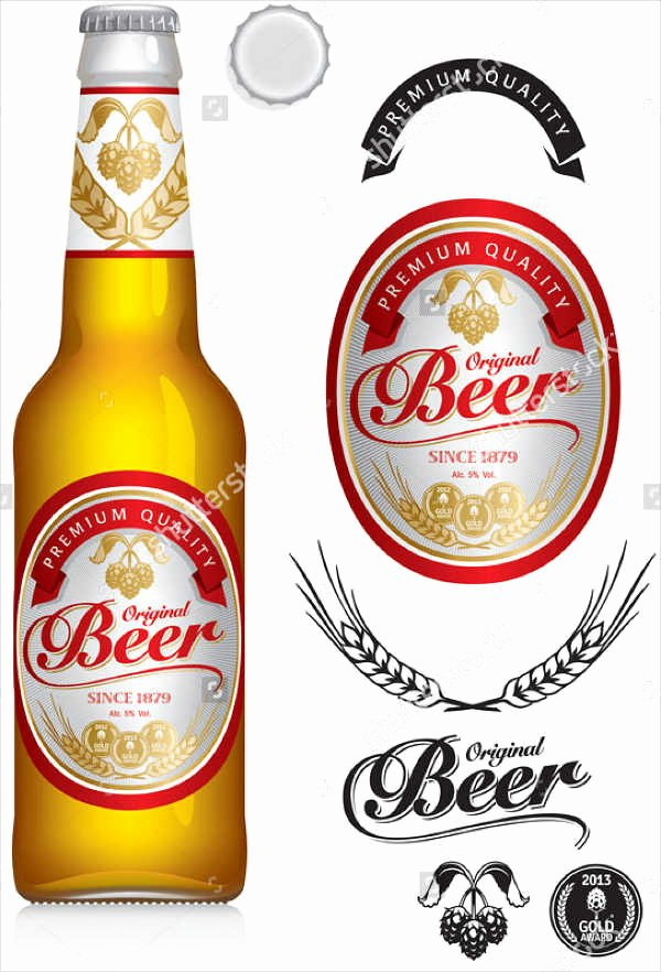 Beer Can Label Template Inspirational 7 Beer Bottle Label Templates Design Templates