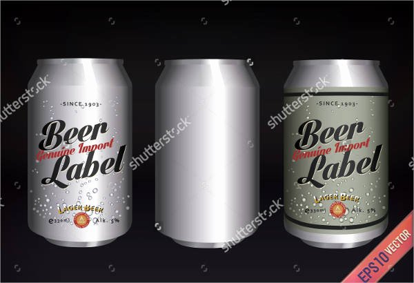 Beer Can Label Template Lovely 7 Beer Bottle Label Templates Design Templates
