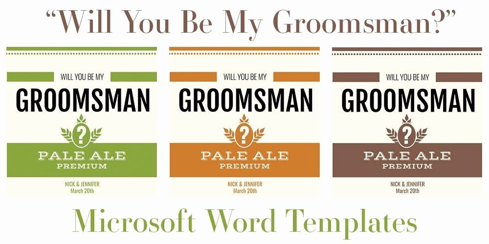 "Beer Can Label Template Luxury Free Microsoft Word Templates for Beer Bottles ""will You"