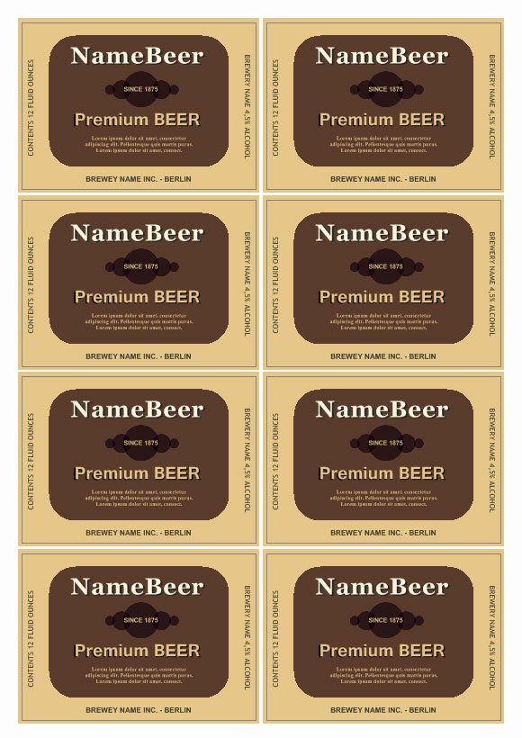 Beer Can Label Template New Beer Label Template
