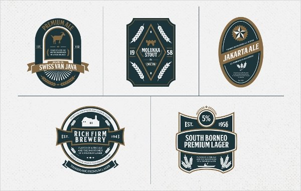 Beer Label Template Illustrator Awesome 40 Creative Beer Label Designs