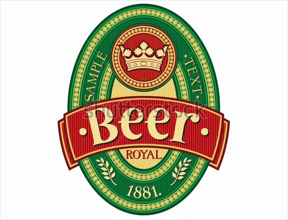 Beer Label Template Illustrator Beautiful Beer Label Template 27 Free Eps Psd Ai Illustrator
