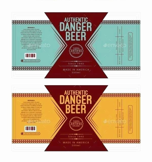 Beer Label Template Illustrator Beautiful Beer Label Template Illustrator Awesome Templates Free