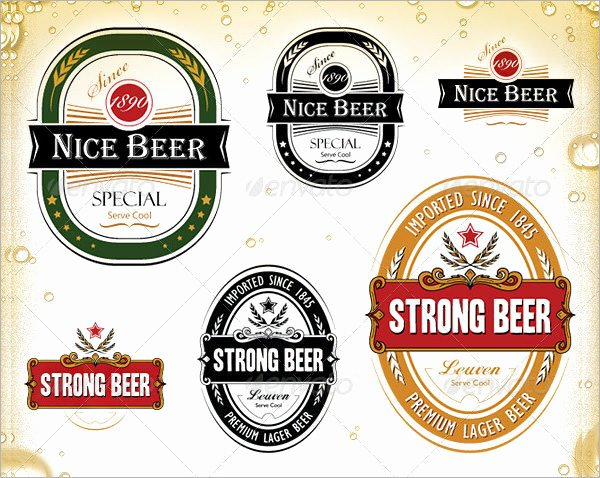 Beer Label Template Illustrator Elegant Beer Label Template Free Download Templates Resume