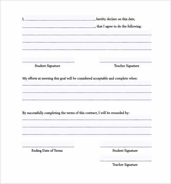 Behavior Contract Template Mental Health Best Of Behavior Contract Template 13 Free Samples Examples