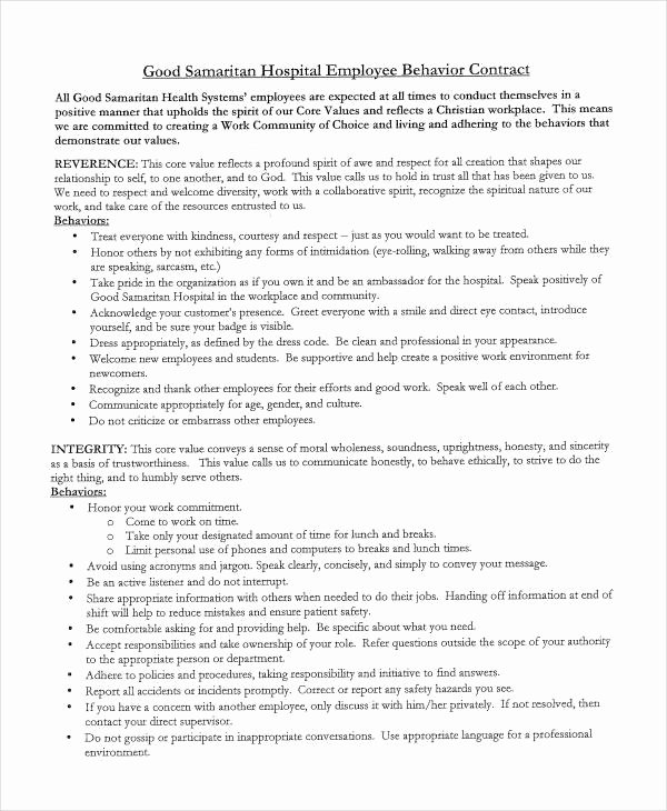Behavior Contract Template Mental Health Luxury 12 Sample Behavior Contract Templates Word Pages Docs
