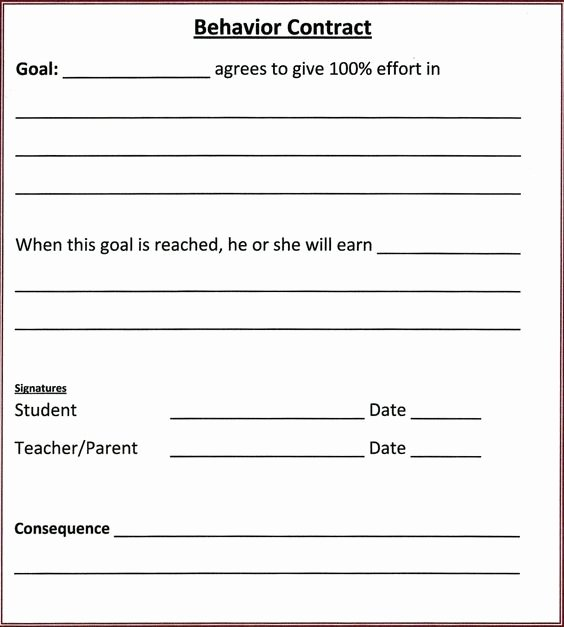 Behavior Contract Template Mental Health Luxury Student Behavior Contract and Ps On Pinterest