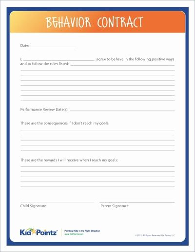 Behavior Contract Template Mental Health New 25 Best Ideas About Behavior Contract On Pinterest