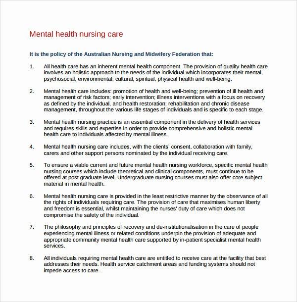 Behavioral Health Treatment Plan Template Awesome 8 Nursing Care Plan Templates