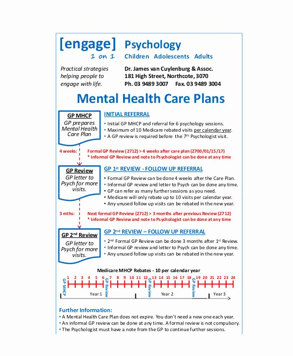 Behavioral Health Treatment Plan Template Lovely 11 Mental Health Care Plan Templates Pdf Doc