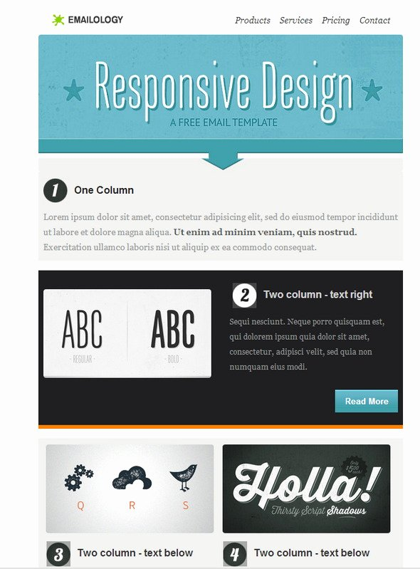 Best Email Template Designs Awesome Best 20 Free Beautiful Responsive HTML Email Templates 2018