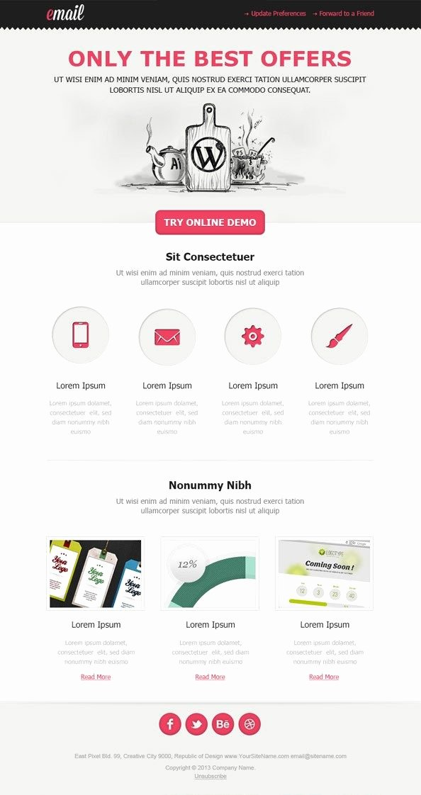 Best Email Template Designs Best Of 25 Beautiful Email Newsletters Ideas On Pinterest