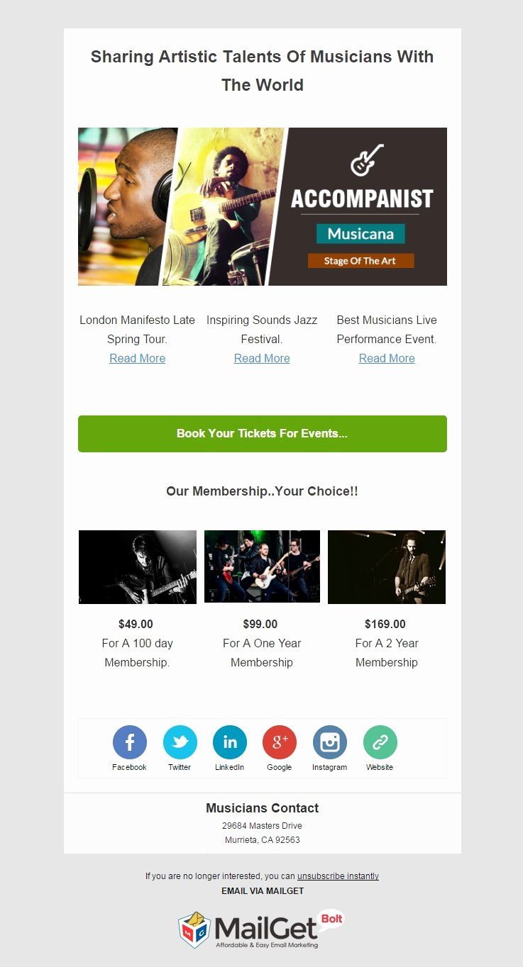 Best Email Template Designs Luxury 9 Best Music Email Templates for Musicians & orchestras
