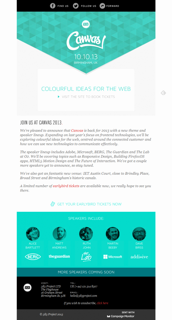 Best Email Template Designs Unique Beautiful Email Newsletters Blog Archive Canvas