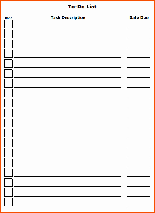 Best to Do List Template Fresh 4 to Do List Template Bookletemplate