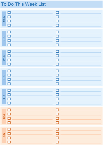 Best to Do List Template Unique Daily to Do List Templates for Excel