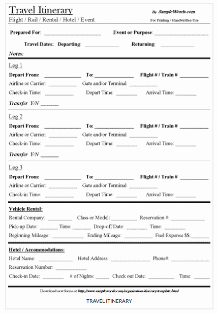 Best Travel Itinerary Template Awesome 15 Free Travel Itinerary Templates Vacation & Trip