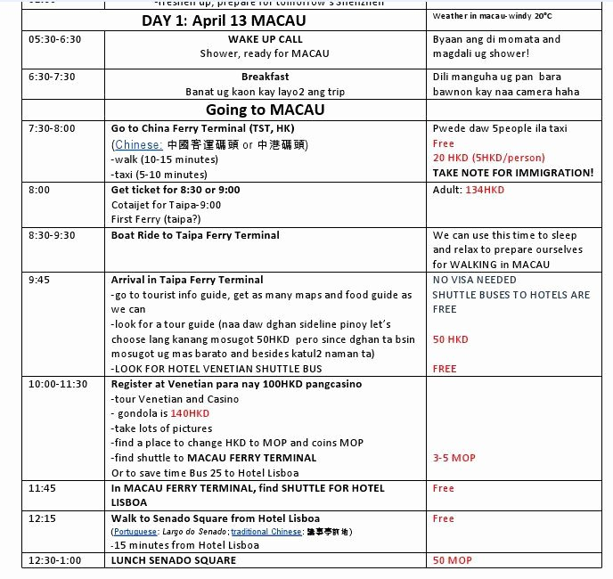 Best Travel Itinerary Template Awesome Personal Travel Itinerary Template Google Search