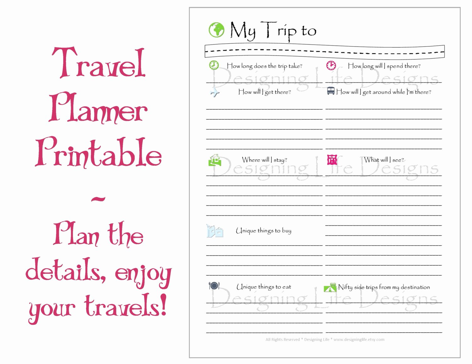 Best Travel Itinerary Template Beautiful 9 Best Of Travel Planner Template Printable
