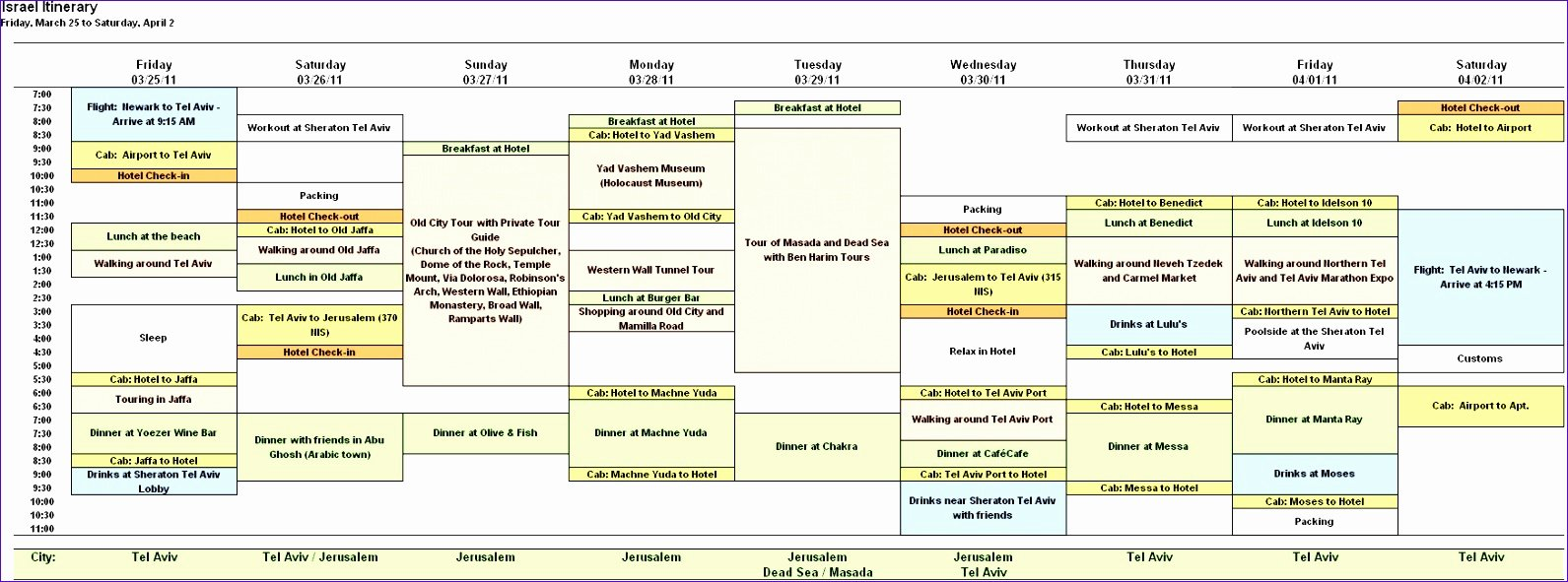 Best Travel Itinerary Template Fresh 9 Vacation Itinerary Template Excel Exceltemplates