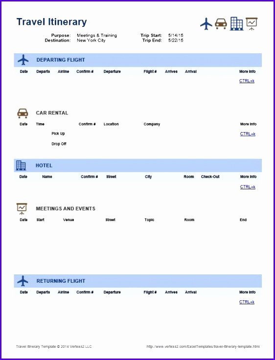 Best Travel Itinerary Template Lovely 12 Travel Schedule Template Excel Exceltemplates