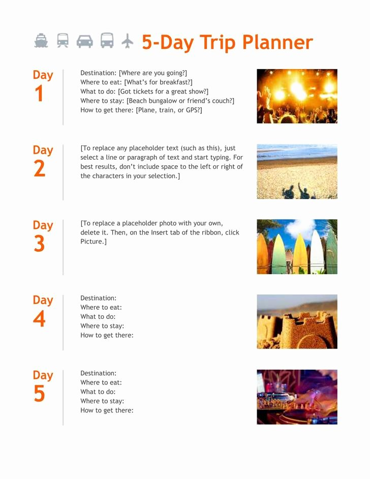 Best Travel Itinerary Template Lovely Download Trip Itinerary Template for Free Tidytemplates