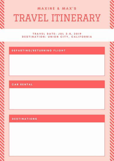 Best Travel Itinerary Template New Blue orange Vintage Itinerary Planner Templates by Canva