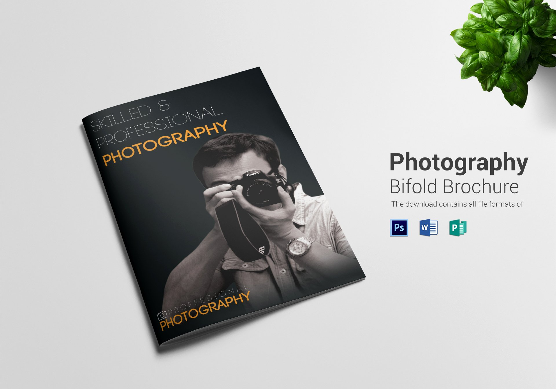 Bi Fold Brochure Template Beautiful Graphy A4 Bifold Brochure Design Template In Psd