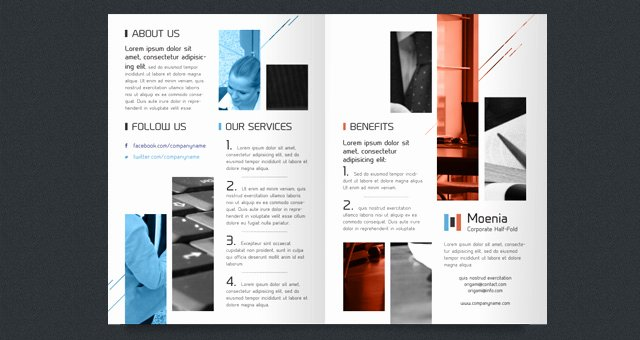 Bi Fold Brochure Template Best Of Moenia Bi Fold Brochure Template