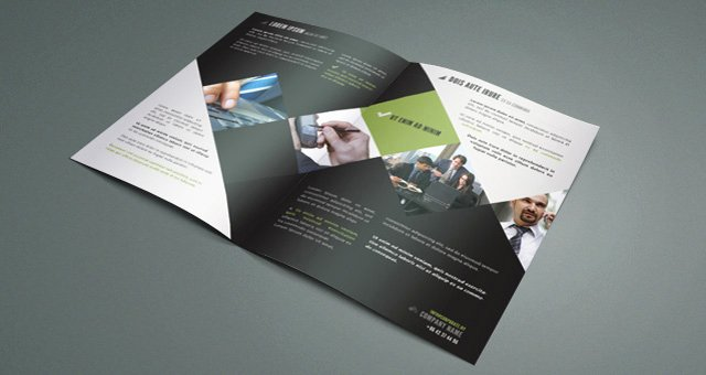 Bi Fold Brochure Template Elegant Corporate Bi Fold Brochure Template