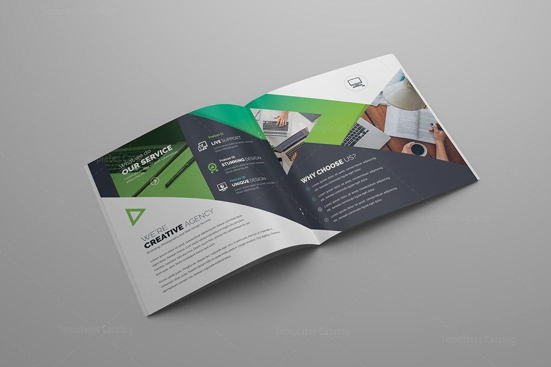 Bi Fold Brochure Template Elegant Gemini Premium Square Bi Fold Brochure Template