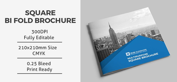 Bi Fold Brochure Template Inspirational Square Bi Fold Brochure Template