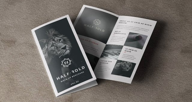 Bi Fold Brochure Template Lovely Psd Bi Fold Mockup Template Vol2