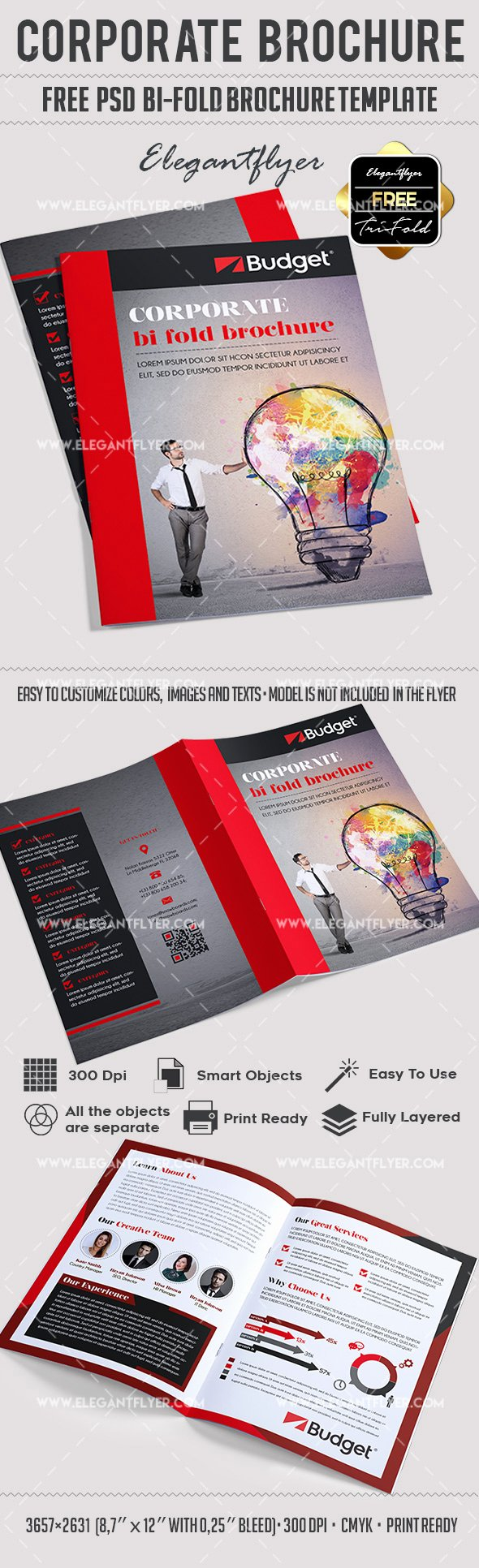Bi Fold Brochure Template Luxury Corporate – Free Psd Bi Fold Psd Brochure Template – by