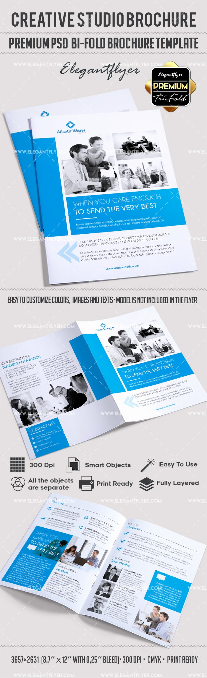 Bi Fold Brochure Template Luxury Creative Studio Bi Fold Brochure – by Elegantflyer