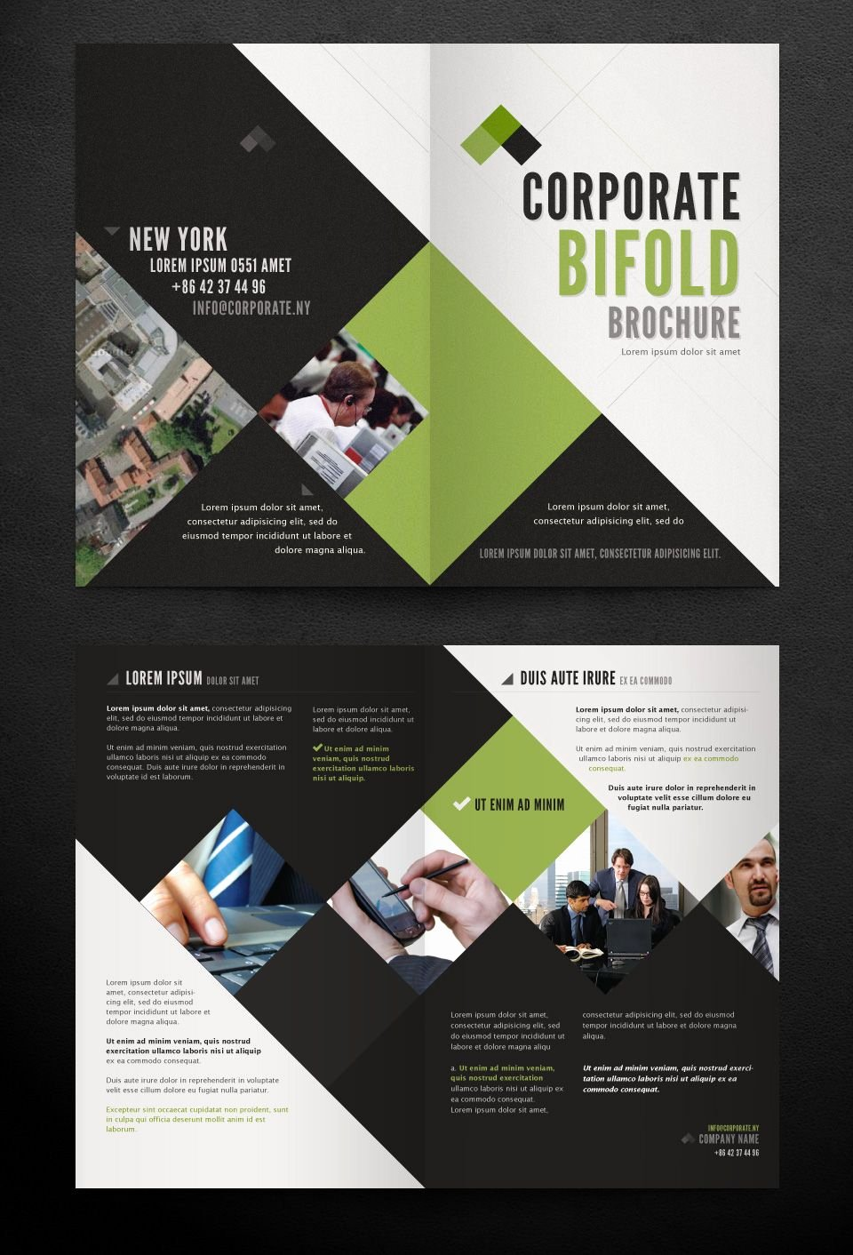 Bi Fold Brochure Template New Corporate Bi Fold Brochure Template