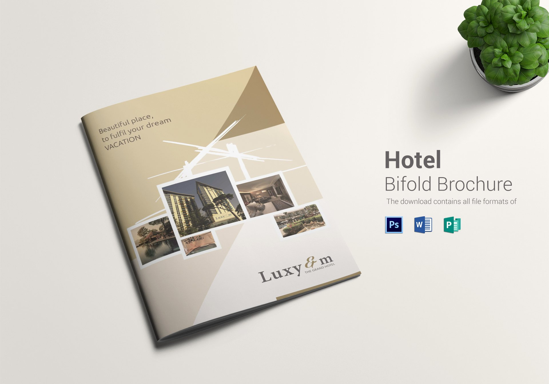Bi Fold Brochure Template New Hotel Bi Fold Brochure Design Template In Word Psd Publisher