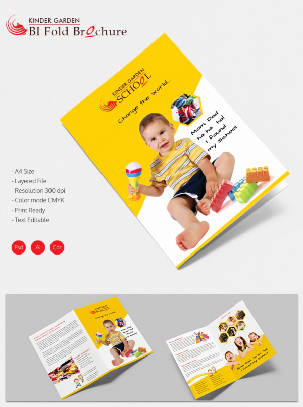 Bi Fold Brochure Template Unique School Brochure 22 Download In Psd Vector Pdf