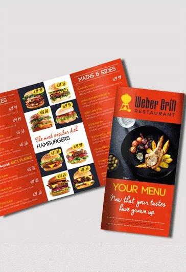 Bi Fold Menu Template Awesome Free Bi Fold Cafe Menu Psd Brochure – by Elegantflyer