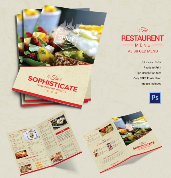 Bi Fold Menu Template Awesome Restaurant Menu Template 45 Free Psd Ai Vector Eps