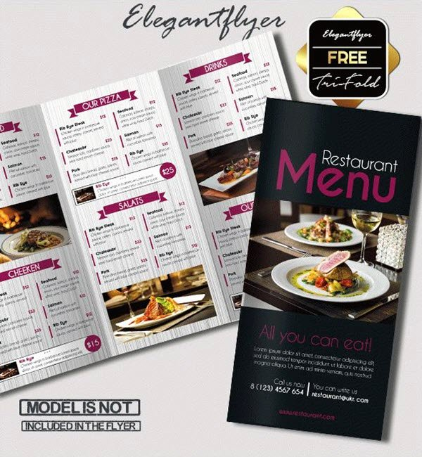 Bi Fold Menu Template Beautiful 15 Free & Exclusive Menu Psd Templates for Cafes and